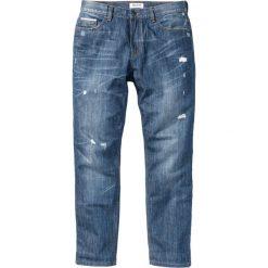 Jeansy męskie regular: Dżinsy z odblaskowymi paskami Classic Fit Tapered bonprix niebieski