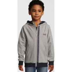 BOSS Kidswear Bluza rozpinana graumeliert. Niebieskie bluzy chłopięce rozpinane marki BOSS Kidswear, z bawełny. W wyprzedaży za 255,20 zł.