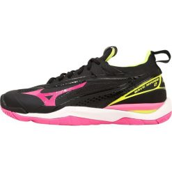 Buty sportowe damskie: Mizuno WAVE MIRAGE  Obuwie do piłki ręcznej black/pink glow/safety yellow