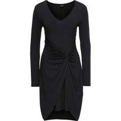 Sukienka z dżerseju z przewiązaniem bonprix czarny. Czarne sukienki balowe marki Reserved. Za 109,99 zł.