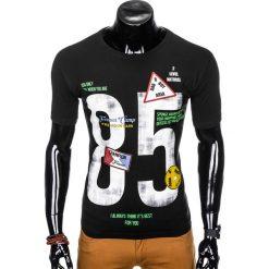 T-SHIRT MĘSKI Z NADRUKIEM S990 - CZARNY. Szare t-shirty męskie z nadrukiem marki Lacoste, z gumy, na sznurówki, thinsulate. Za 29,00 zł.