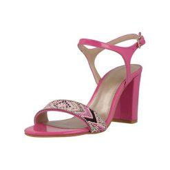 Sandały damskie: Skórzane sandały w kolorze fuksji
