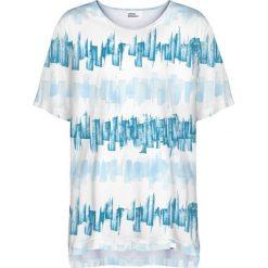 Colour Pleasure Koszulka damska CP-033 281 biało-niebieska r. uniwersalny. Białe bluzki damskie marki Colour pleasure, uniwersalny. Za 76,57 zł.