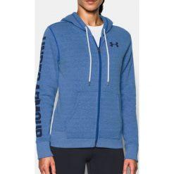 Bluzy sportowe damskie: Under Armour Bluza damska Favorite FZ Hoodie niebieska r. S (1302361-984)