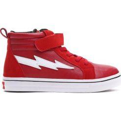 Czerwone Buty Sportowe Highlights. Czerwone buty sportowe chłopięce Born2be, z materiału, z okrągłym noskiem. Za 89,99 zł.