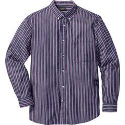 Koszule męskie: Koszula w paski Regular Fit bonprix ciemnoniebiesko-jeżynowo-biały w paski