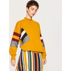 Bluza z kolorowymi paskami - Żółty. Żółte bluzy damskie marki Reserved, m, w kolorowe wzory. Za 89,99 zł.