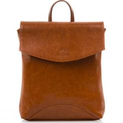Plecak damski Włoski ze skóry naturalnej Camel. Brązowe plecaki damskie Paolo Peruzzi, ze skóry, vintage. Za 299,00 zł.