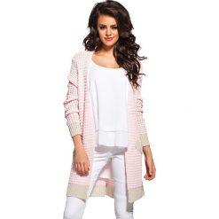 Odzież damska: Sweter w kolorze różowo-beżowym