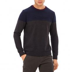 Sweter w kolorze antracytowo-niebieskim. Niebieskie swetry klasyczne męskie GALVANNI, m, z okrągłym kołnierzem. W wyprzedaży za 139,95 zł.