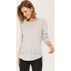 Sweter z koszulą - Jasny szar. Szare koszule damskie marki House, l. Za 49,99 zł.