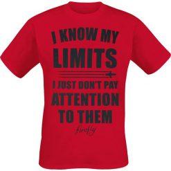 T-shirty męskie z nadrukiem: Firefly I Know My Limits T-Shirt czerwony