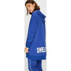Answear - Bluza. Niebieskie bluzy z kapturem damskie ANSWEAR, l, z bawełny. W wyprzedaży za 99,90 zł.