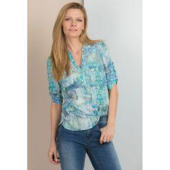 Bluzki asymetryczne: Kolorowa bluzka z wiosennym motywem