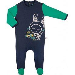 Śpiochy niemowlęce: Śpioszki w kolorze granatowo-zielonym