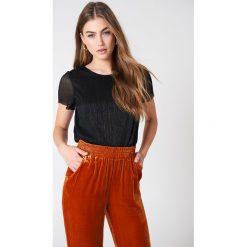 T-shirty damskie: Just Female T-Shirt Shimmer Quint – Black
