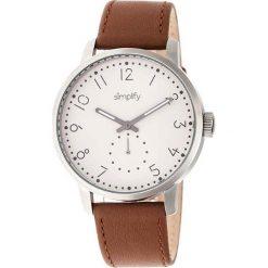 """Zegarki męskie: Zegarek kwarcowy """"the 3400"""" w kolorze jasnobrązowo-srebrno-białym"""