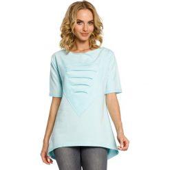 ELISA Dresowa bluza tunika z sercem  - miętowy. Szare tuniki damskie marki Moe, s, z dresówki. Za 89,00 zł.