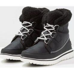 Sorel COZY CARNIVAL Botki sznurowane black. Czarne buty zimowe damskie marki Sorel, z materiału. W wyprzedaży za 423,20 zł.
