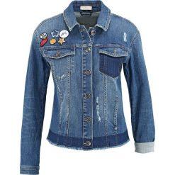Bomberki damskie: Dżinsowa kurtka w kolorze niebieskim