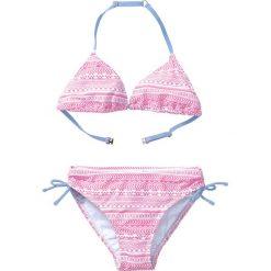 Stroje dwuczęściowe dziewczęce: Bikini dziewczęce (2 części) bonprix jasnoróżowo-biały