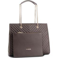 Torebka LOVE MOSCHINO - JC4259PP06KI0001  Taupe. Szare torebki klasyczne damskie marki Love Moschino, ze skóry ekologicznej, duże, zdobione. Za 959,00 zł.