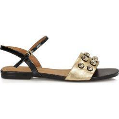 Sandały damskie: Złote sandały damskie