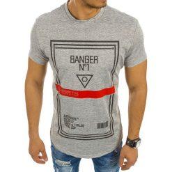 T-shirty męskie z nadrukiem: T-shirt męski z nadrukiem szary (rx2128)