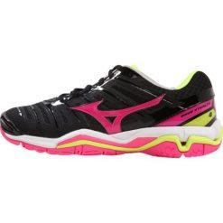 Buty sportowe damskie: Mizuno WAVE 4  Obuwie do piłki ręcznej black/pink glo/safety yellow