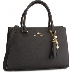 Torebka WITTCHEN - 87-4E-403-1 Czarny. Czarne torebki klasyczne damskie Wittchen, ze skóry. W wyprzedaży za 459,00 zł.