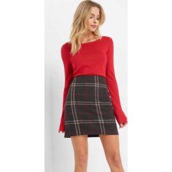 Spódnica w kratę. Czerwone spódniczki dzianinowe Orsay, xs, dopasowane. Za 59,99 zł.