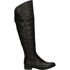 Kozaki - 70050 TOS NER. Czarne buty zimowe damskie Venezia, ze skóry. Za 369,00 zł.