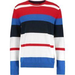 Tommy Jeans MULTI STRIPE Sweter racing red/multi. Czerwone kardigany męskie Tommy Jeans, m, z bawełny. W wyprzedaży za 404,10 zł.