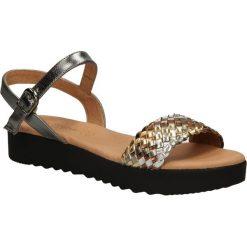 SANDAŁY EVA FRUTOS 5052. Szare sandały damskie marki Alma en Pena, z materiału, na płaskiej podeszwie. Za 99,99 zł.
