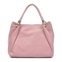 Torebki klasyczne damskie: Skórzana torebka w kolorze różowym – (S)25 x (W)33 x (G)11 cm