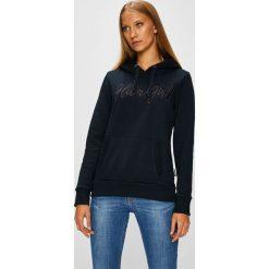 Fresh Made - Bluza. Czarne bluzy rozpinane damskie Fresh Made, l, z aplikacjami, z bawełny, z kapturem. W wyprzedaży za 129,90 zł.