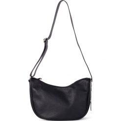Torebki klasyczne damskie: Skórzana torebka w kolorze czarnym - 28 x 20 x 11 cm