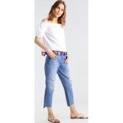Bluzki asymetryczne: Noisy May NMMELLA Bluzka bright white