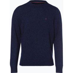 Tommy Hilfiger - Sweter męski – Heather, niebieski. Brązowe swetry klasyczne męskie TOMMY HILFIGER, l, z materiału. Za 449,95 zł.