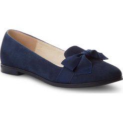 Lordsy BALDACCINI - 101300-A Granat Zamsz. Niebieskie lordsy damskie Baldaccini, z materiału. W wyprzedaży za 169,00 zł.