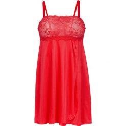 Koszulka nocna bonprix czerwony. Czerwone koszule nocne i halki bonprix, z satyny. Za 89,99 zł.