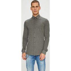 Casual Friday - Koszula. Szare koszule męskie na spinki marki S.Oliver, l, z bawełny, z włoskim kołnierzykiem, z długim rękawem. W wyprzedaży za 179,90 zł.