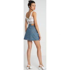 Spódniczki jeansowe: American Vintage Spódnica trapezowa mid blue