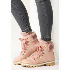 Buty zimowe damskie: Różowe Traperki Fields Forever