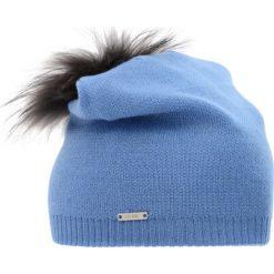 Czapka damska. Niebieskie czapki zimowe damskie Ochnik, z dzianiny. Za 129,90 zł.
