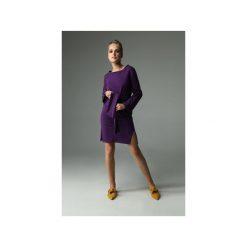 Sukienka Brook - Fioletowa. Różowe sukienki balowe marki numoco, l, z dekoltem w łódkę, oversize. Za 229,00 zł.