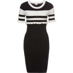 Sukienki hiszpanki: Sukienka bonprix czarno-biały