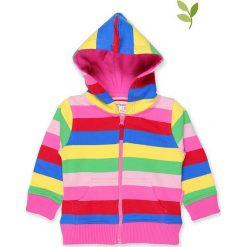 Bluza w kolorze jasnoróżowym ze wzorem. Czerwone bluzy dziewczęce rozpinane Toby Tiger, w paski, z bawełny, z kapturem. W wyprzedaży za 129,95 zł.