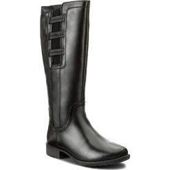 Oficerki JANA - 8-25601-29 Black 001. Czarne buty zimowe damskie Jana, z materiału, na obcasie. W wyprzedaży za 329,00 zł.