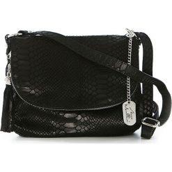 Torebki klasyczne damskie: Skórzana torebka w kolorze czarnym – 28 x 20 x 8 cm